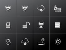Metallic Icons - Computer Network Royalty Free Stock Photos