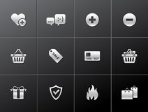 Metallic Icons - Ecommerce Stock Image