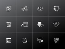 Metallic Icons - File Sharing. File sharing icon series in metallic style. EPS 10 Royalty Free Stock Photography
