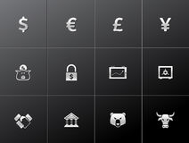 Metallic Icons - Finance Royalty Free Stock Photo