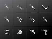 Metallic Icons - Hand Tools Stock Images