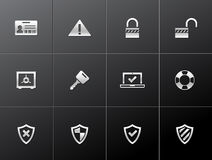 Metallic Icons - Inhternet Security Royalty Free Stock Image