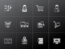 Metallic Icons - Logistic Royalty Free Stock Images