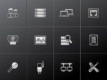 Metallic Icons - More Computer Network. Computer network icon series in metallic style. EPS 10 Royalty Free Stock Photo
