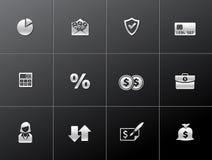 Metallic Icons - More Finance. Finance icon series in metallic style - EPS 10 Stock Photo