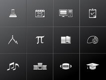 Metallic Icons - More School. More school icon series in metallic style. EPS 10 Stock Photography