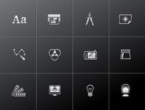 Metallic Icons -Printing & Graphic Design Royalty Free Stock Photo