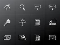 Metallic Icons - Real Estate stock photography