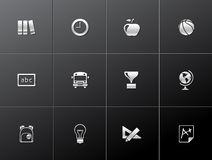Metallic Icons - School Royalty Free Stock Photography