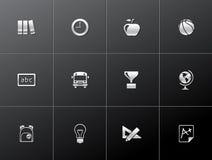 Metallic Icons - School Royalty Free Stock Photography