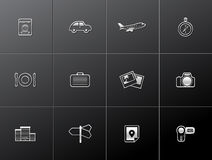 Metallic Icons - Travel Stock Image