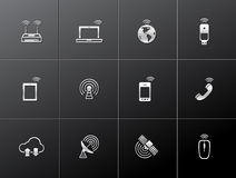 Metallic Icons - Wireless Royalty Free Stock Photos