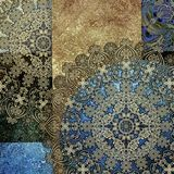Metallic imitation, abstract shabby colored background, floral p. Attern pale royalty free illustration
