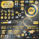 Metallic infographic elements Stock Photos