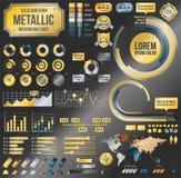 Metallic infographic elements Stock Photos