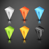 Metallic infographics 3d pointer Royalty Free Stock Image