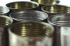Metallic jars Royalty Free Stock Photography
