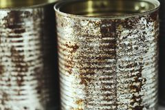 Metallic jars Stock Images