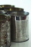 Metallic jars Stock Image