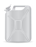 Metallic jerrycan vector illustration Royalty Free Stock Photos