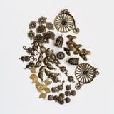 Metallic jewelry parts Stock Images