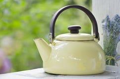 Metallic kettle Stock Photography