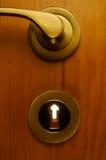 Metallic keyhole Stock Photos