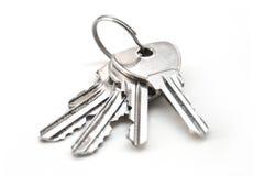 Metallic keys with ring Stock Image