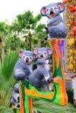 Metallic koala statue Royalty Free Stock Photos