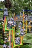 Metallic koala statue Royalty Free Stock Images