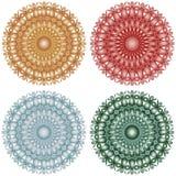Metallic lace patterned circle geometric stars Stock Photos