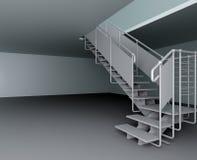 Metallic ladder Stock Photo