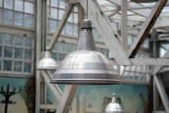 Metallic lamp. Metalic lamp in a old building Stock Photos
