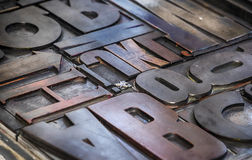 Metallic letterpress Stock Photos