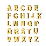 Metallic letters. On white background Stock Photo