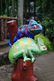 Metallic lizard statue Royalty Free Stock Photo