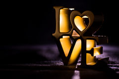 Metallic Love figurine Royalty Free Stock Photo