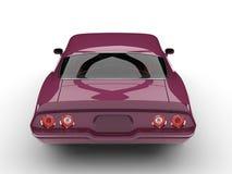 Metallic magenta old school vintage American car - back view royalty free illustration