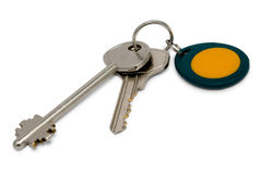 Metallic and magnetic (proximity) keys Stock Image