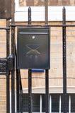 Metallic mailbox in black Stock Photos