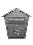 Metallic mailbox Royalty Free Stock Image