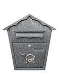 Metallic mailbox Royalty Free Stock Image