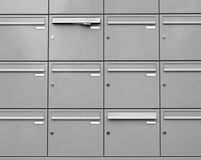 Metallic mailboxes Royalty Free Stock Image