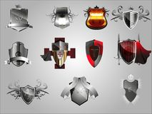 Medieval  shields. Royalty Free Stock Images