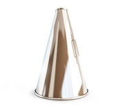 Metallic megaphone Stock Images