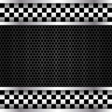 Metallic mesh checkered banner design Royalty Free Stock Photography