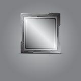 Metallic microchip Royalty Free Stock Photo