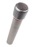 Metallic microphone Royalty Free Stock Image