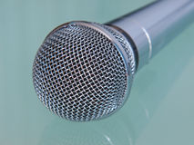 Metallic microphone. Stock Images