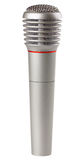 Metallic microphone. Isolated on a white background Royalty Free Stock Photos
